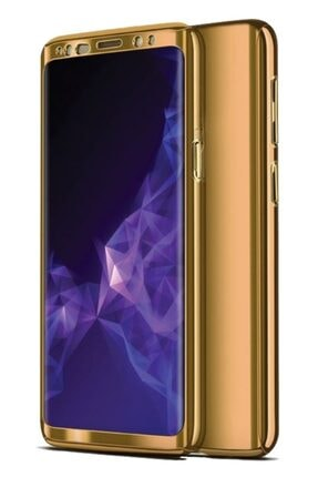 MobilCadde Eiroo Mirror Protect Fit Huawei Mate 20 Lite 360 Derece Koruma Gold Kılıf