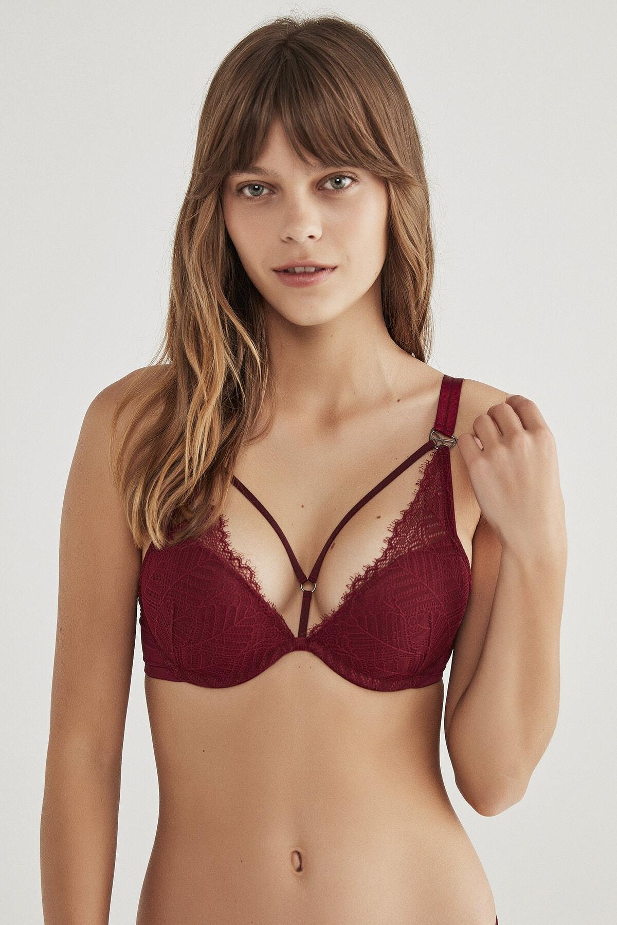 Penti Kadın Kırmızı Bordo Wowbra Color Sütyen