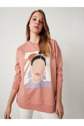 LC Waikiki Kadın Pembe Sweatshirt