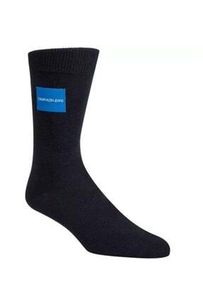 Calvin Klein Logo Patoh Erkek Lacivert Çorap