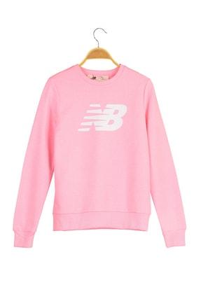 New Balance Kadın Spor Sweatshirt - CREW NECK  - WTC0303-PNK