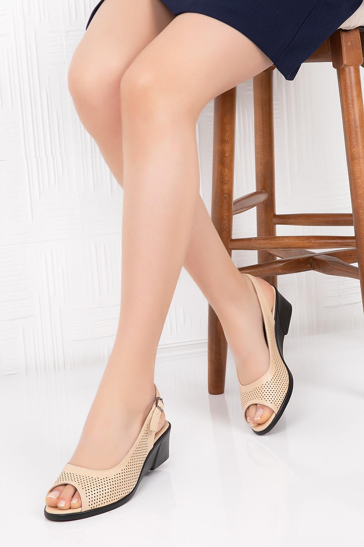 Gondol Hakiki Deri Anatomik Taban Sandalet 1