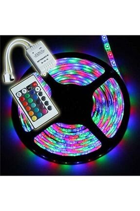 Led Rgb Renkli Şerit Işık 5 Metre Kumanda Ve Adaptör Dahil Set Tak.çalıştır