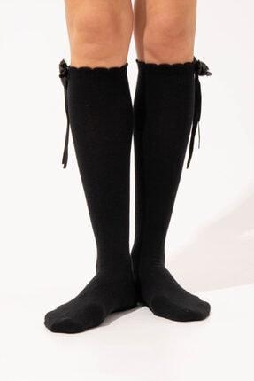 Katia&Bony Shıny Bowl Kadın Dizaltı Çorap - Siyah