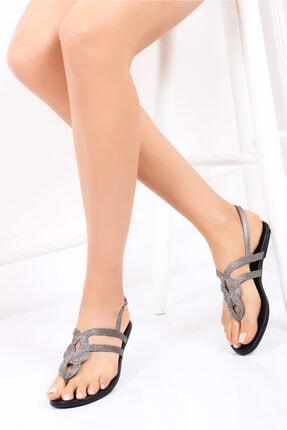 Deripabuc Hakiki Deri Kadın Deri Sandalet Dp53-0015