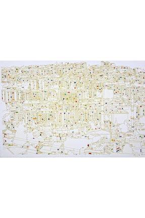 Veysel Daşçı The City 6, 80x120, Nakış