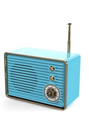Concord Nostaljik Mini Radyo Usb Aux Bluetooth Hoparlör Yüksek Ses Kalitesi - C-8235 Mavi