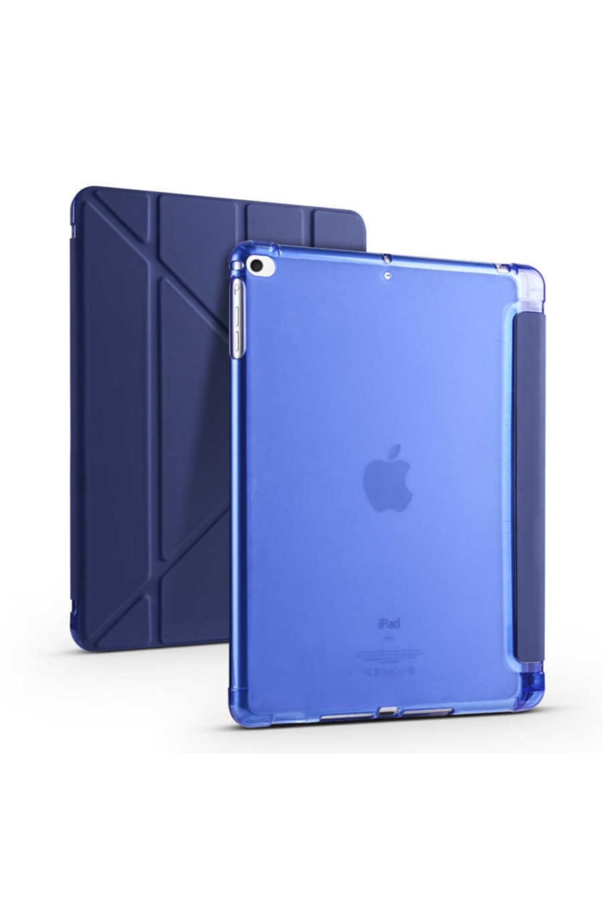 carına vannı Apple Ipad 9.7 2018 Uyumlu Lacivert,kalem Bölmeli Katlanabilir Tablet Kılıfı,standlı Kılıf Pnd 1