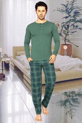 Aydoğan Erkek Haki Uzun Kol Pijama Takımı