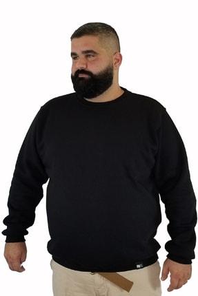Xanimal Erkek Siyah Büyük Beden Sweatshirt 3xl 4xl 5xl 6xl 7xl