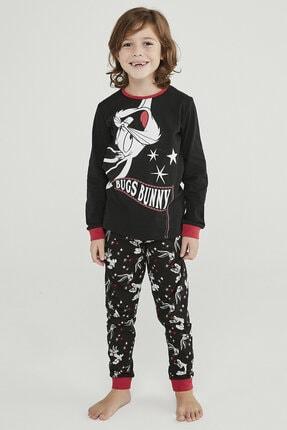 Penti Siyah Erkek Çocuk Bugs Bunny 2li Pijama Takımı