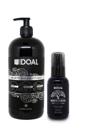 DOAL Keratin Bakım Sütü 1000 ml + Macadamia & Argan Elixir Saç Bakım Serumu 100 ml