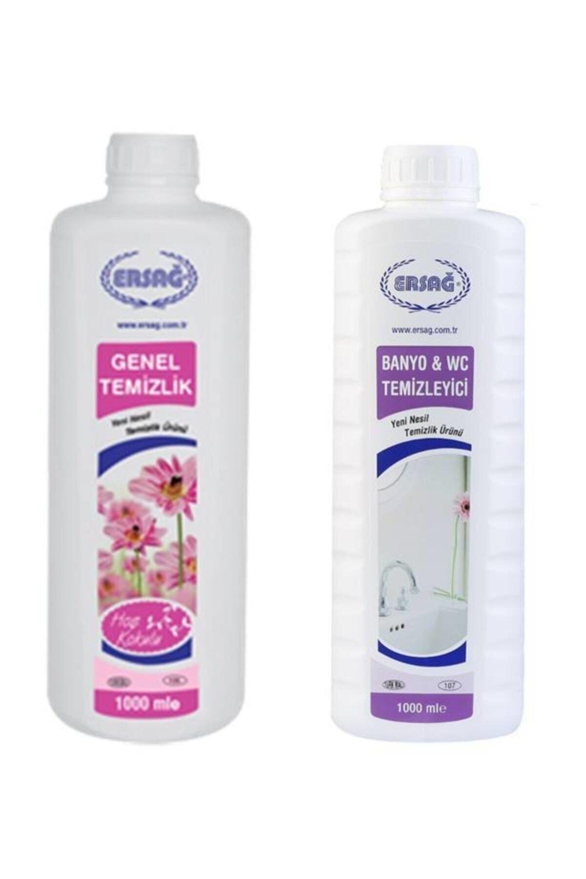 Ersağ Genel Temizlik Ve Banyo Wc Temizleyici 1000 Er ml 1