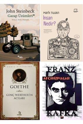 Optimum Kitap Gazap Üzümleri, Insan Nedir?, Aforizmalar Ve Genç Werther'in Acıları Kitap Seti