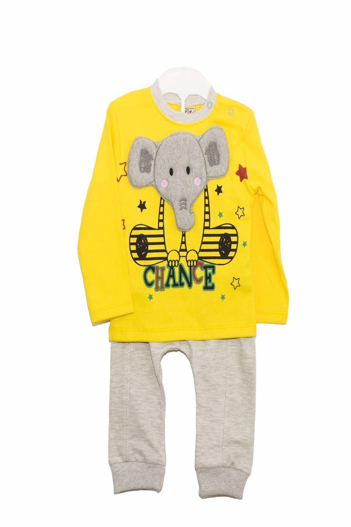 Crazy Baby My Crayz Baby - 2'li Bebek Filli Sarı Takım 1