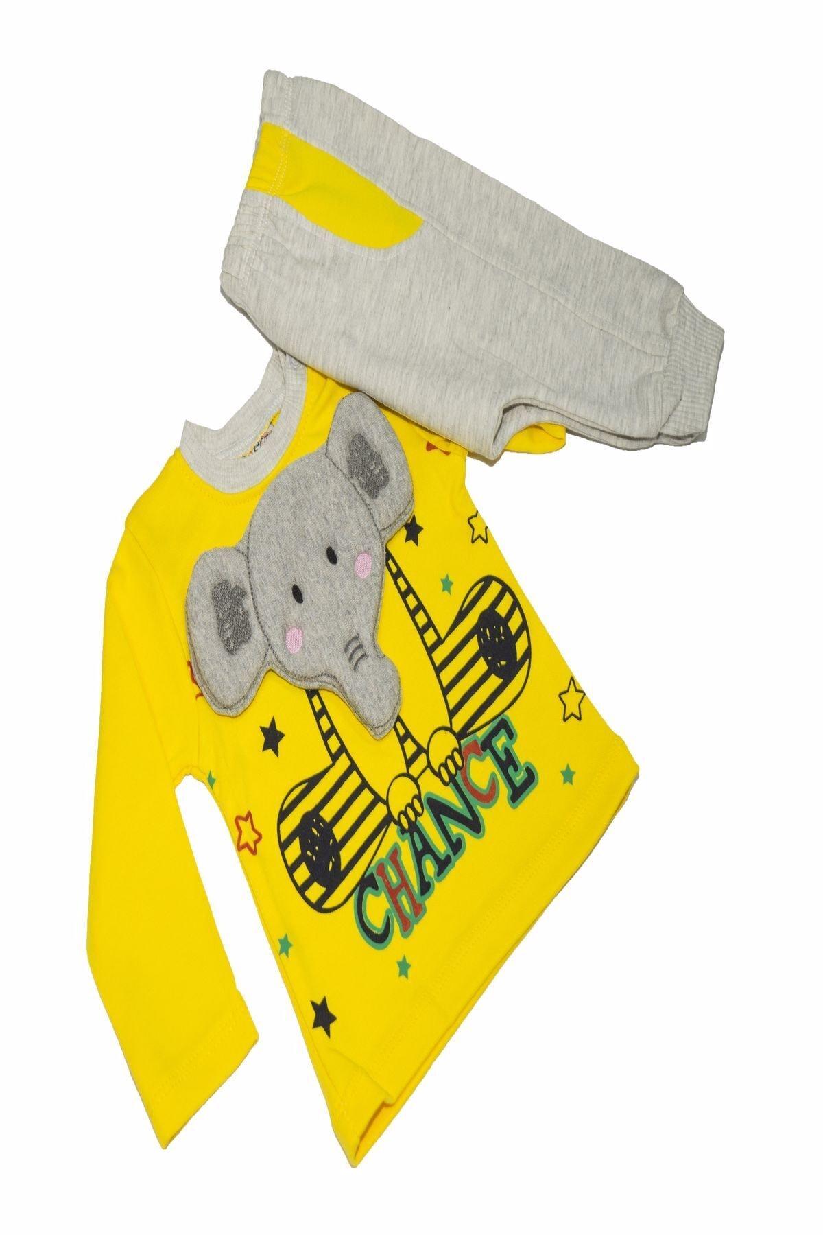 Crazy Baby My Crayz Baby - 2'li Bebek Filli Sarı Takım 2