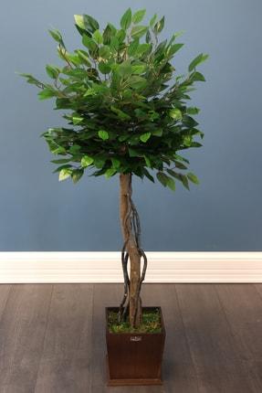 Yapay Çiçek Deposu Yapay Bodur Benjamin Ağacı 130 Cm (Ficus Benjamina)