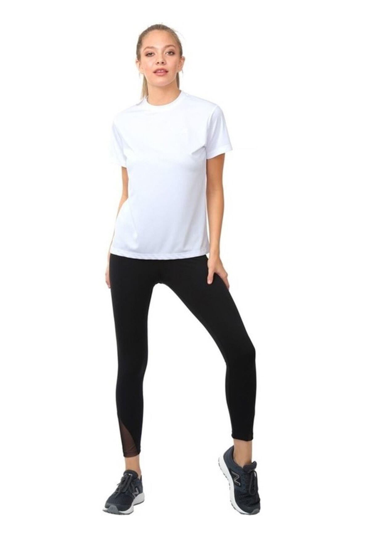 New Balance Kadın Spor T-shirt - Teamwear - Nbtm009-wt 1