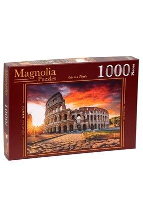 Magnolia Puzzle - 1000 Parça Puzzle – Roma – Rome - Manzara - 2333