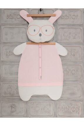 Bebitof Kız Bebek Gözlüklü Tavşan Ikili Alt Açma Seti Pembe