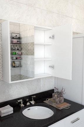 MONTANA 2 Kapaklı Aynalı Banyo Dolabı Çok Amaçlı Dolap