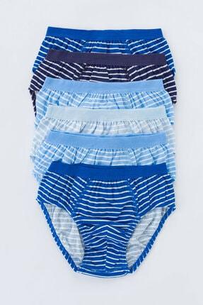 Penti Erkek Çocuk Blue Stripe 6lı Slip Külot