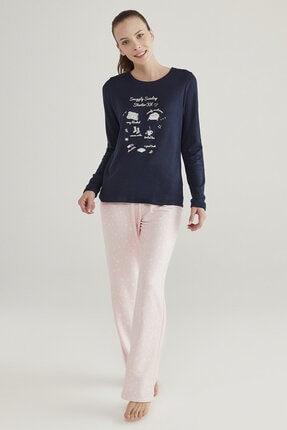 Penti Çok Renkli Snuggly Sunday Termal Pijama Takımı