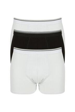 Penti Siyah Beyaz Basic Tape 3lü Mıd Boxer