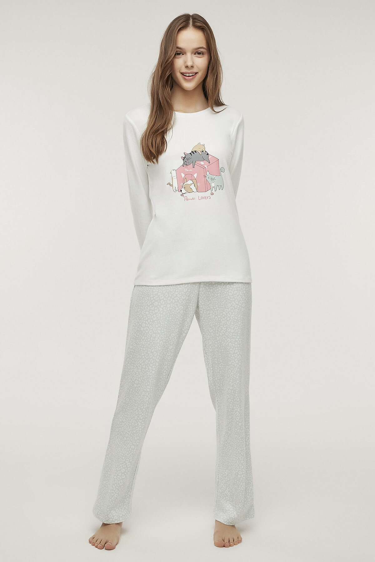 Penti Çok Renkli Pet Love Termal Pijama Takımı 1