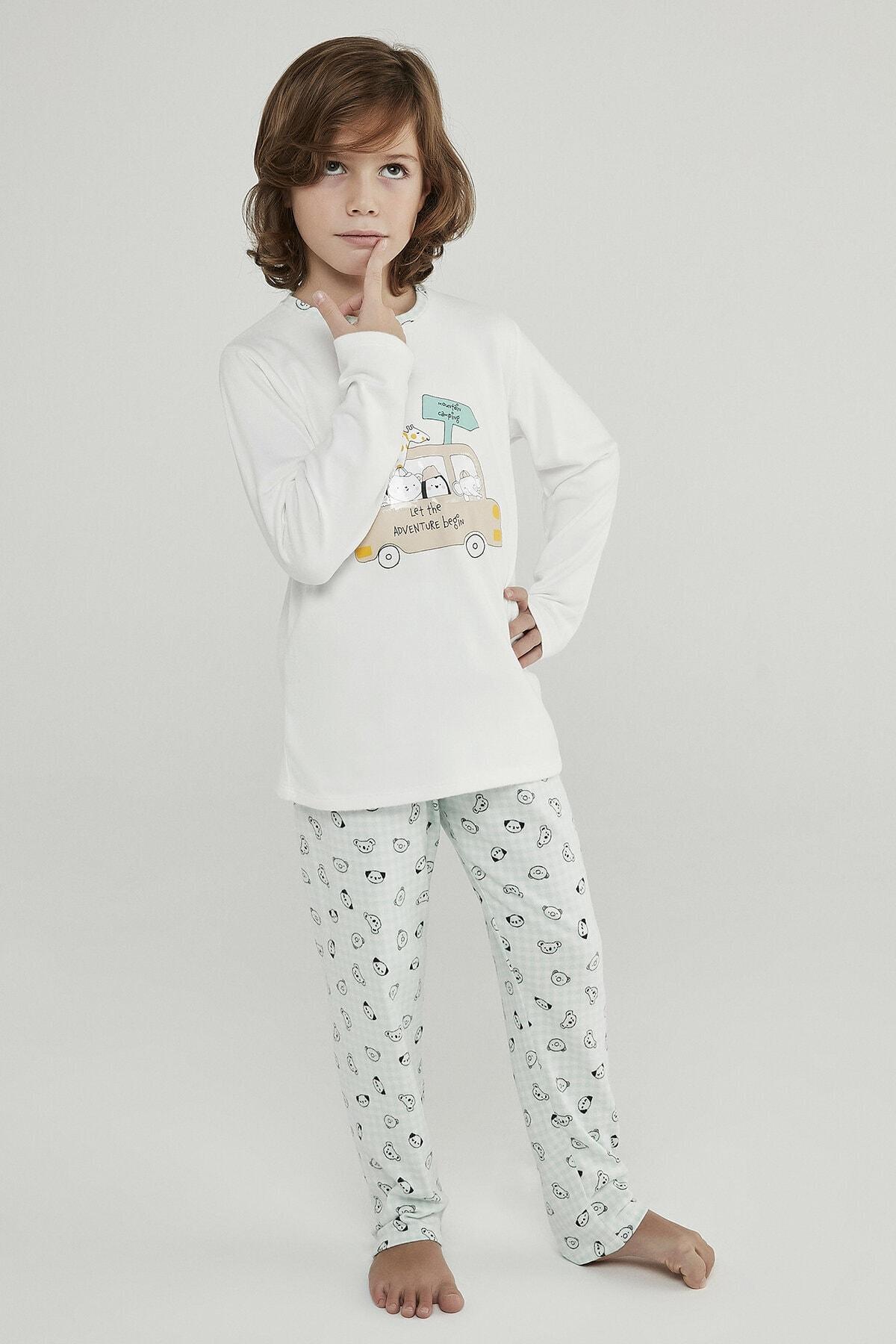 Penti Çok Renkli Erkek Çocuk Adventure Termal 2li Pijama Takımı 1