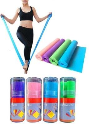 Liggo Pilates Bandı Karışık Renk Egzersiz Lastiği Pvc Tüp Yoga Bant