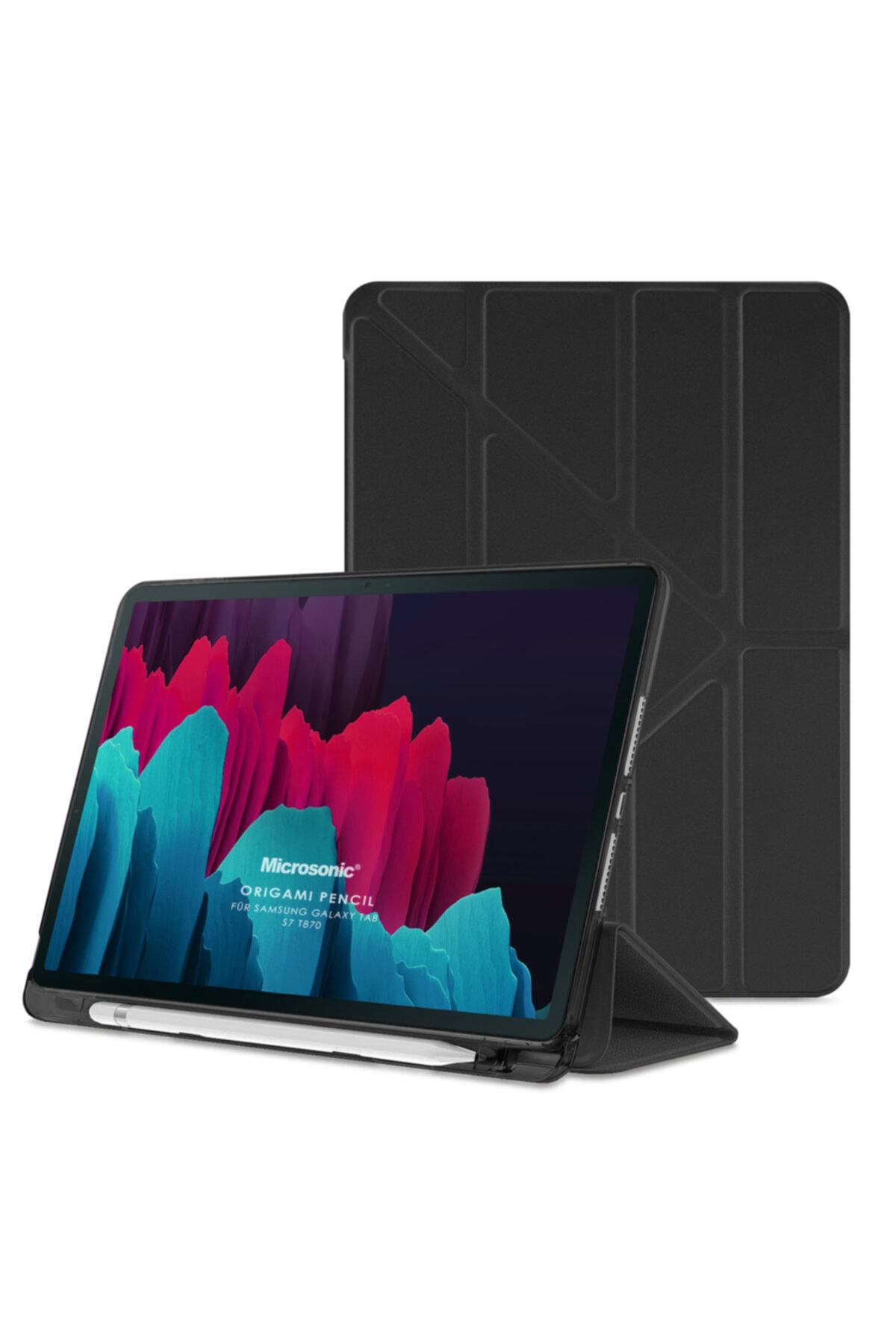 Microsonic Samsung Galaxy Tab S7 T870 Kılıf Origami Pencil Siyah 1