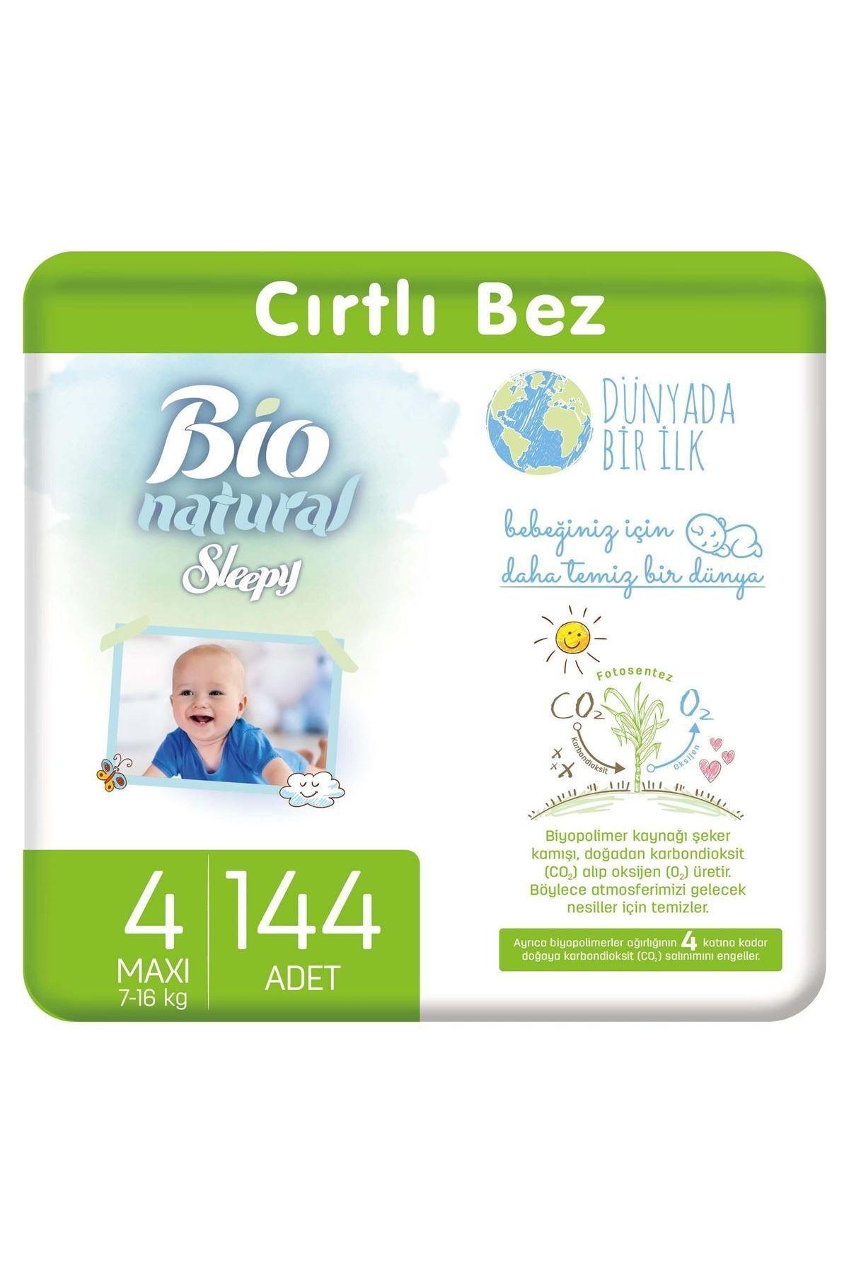 Sleepy Bio Natural Bebek Bezi 4 Numara Maxi 144 Adet 1
