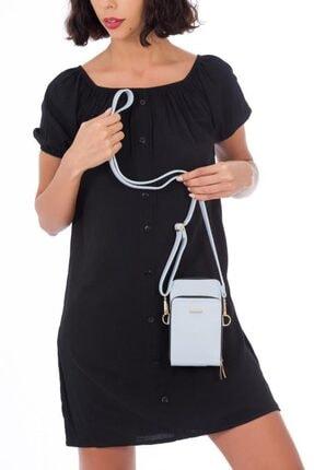 ESPARDİLE Kadın Mavi Telefon Bölmeli Omuz Çantası