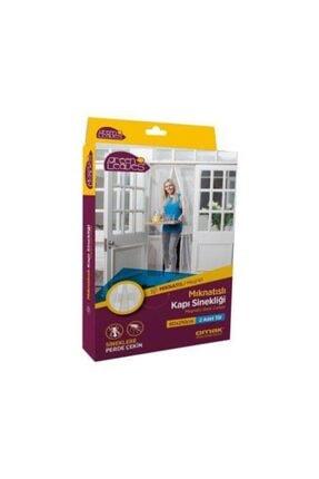 OMAK Mıknatıslı Kapı Sinekliği Balkon Bahçe Kapısı Sinek Böcek Önleyici Tül Perde Sineklik 2 Parça