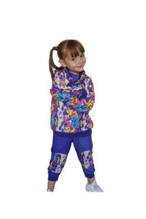 Riccotarz Kız Çocuk Unicorn Purple Alt Üst Takım