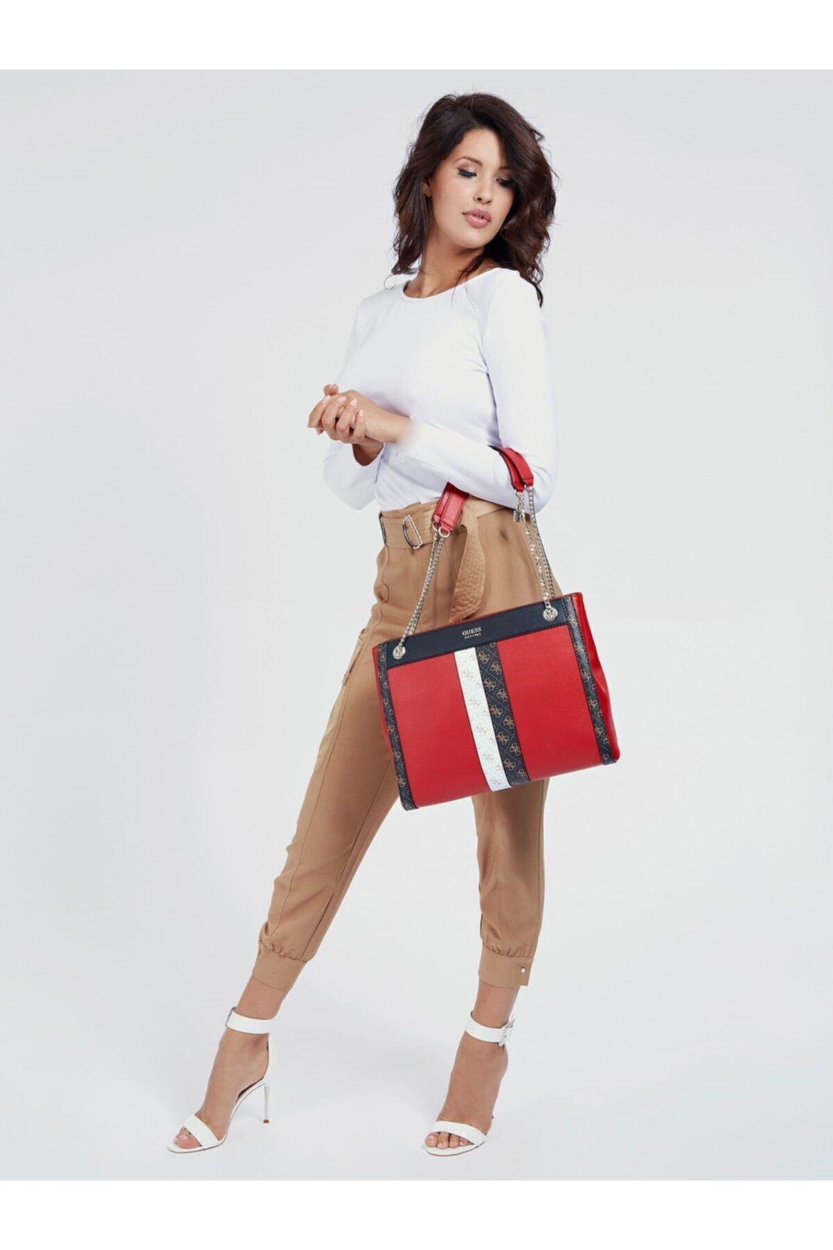 Guess Kadın Kırmızı Katey Omuz Çantası 2