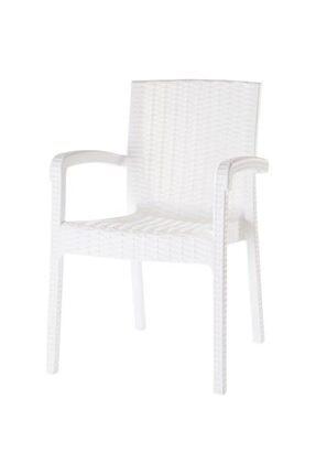 Violet Trend Raddan Lüks Kollu Sandalye Koltuk Beyaz