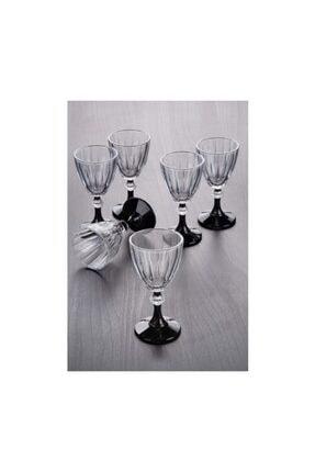 Paşabahçe Diamond Siyah Kahve Yanı Su Bardağı 6 Adet