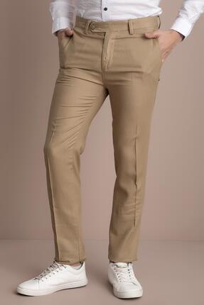 TENA MODA Erkek Camel Viskonlu Keten Pantolon