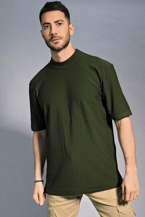 CHUBA Erkek Oversize Triko T-shirt Haki 20w188