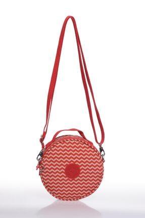 SMART BAGS Smb3024-0134 Kırmızı/bej Kadın Çapraz Çanta