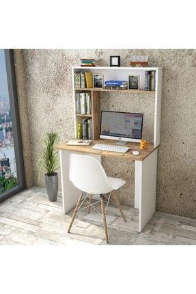 Yurudesign Bremen Çalışma Masası Kitaplık Raf Çam-beyaz Br2-aw