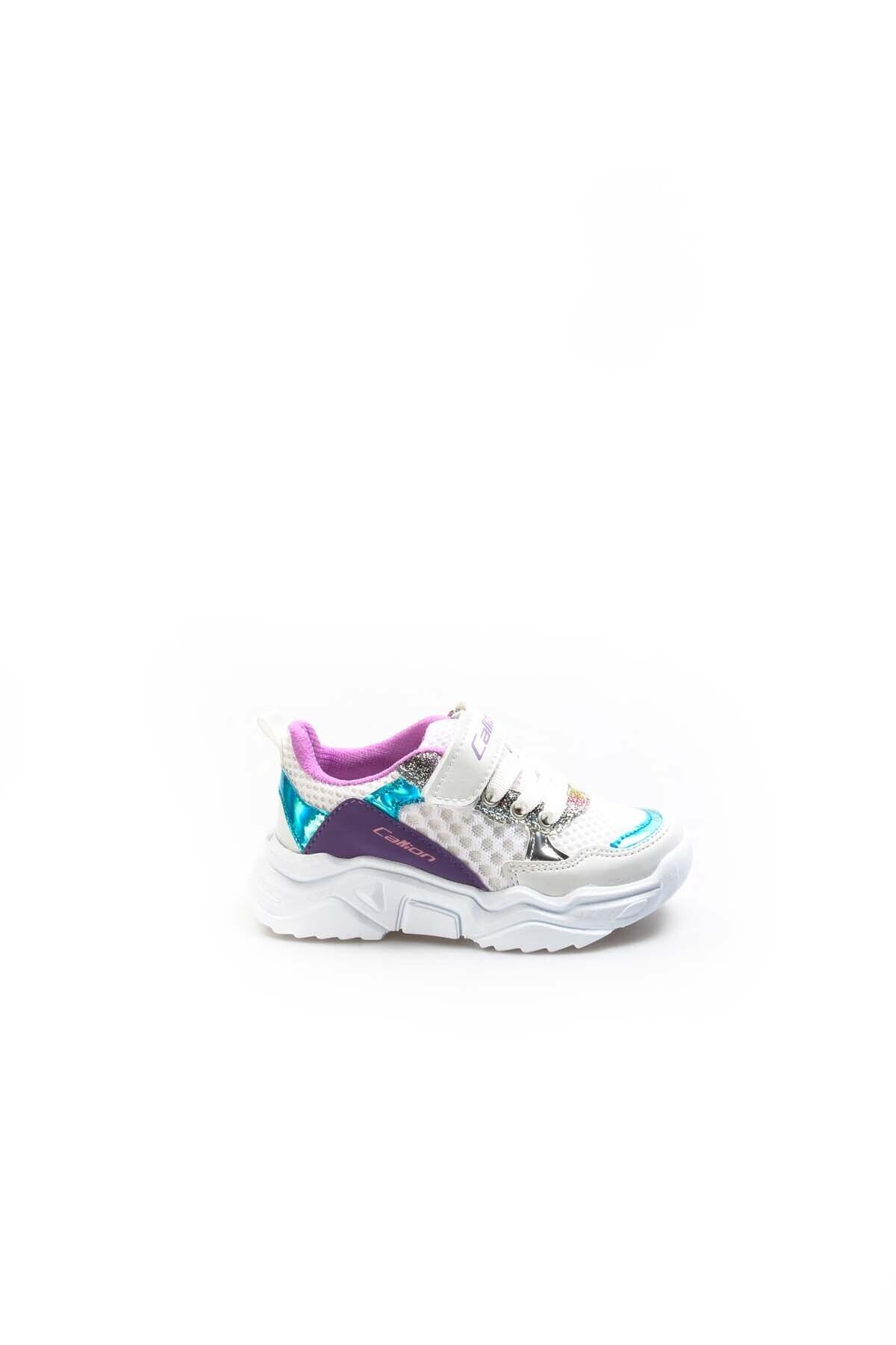 FAST STEP Beyaz Turkuaz Lila Unisex Çocuk Sneaker Ayakkabı 868pa051c 1