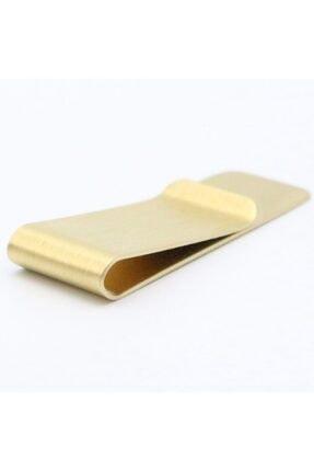Spelt Metal Kağıt Para Tokası Kart Tutucu Klips Cüzdan Altın