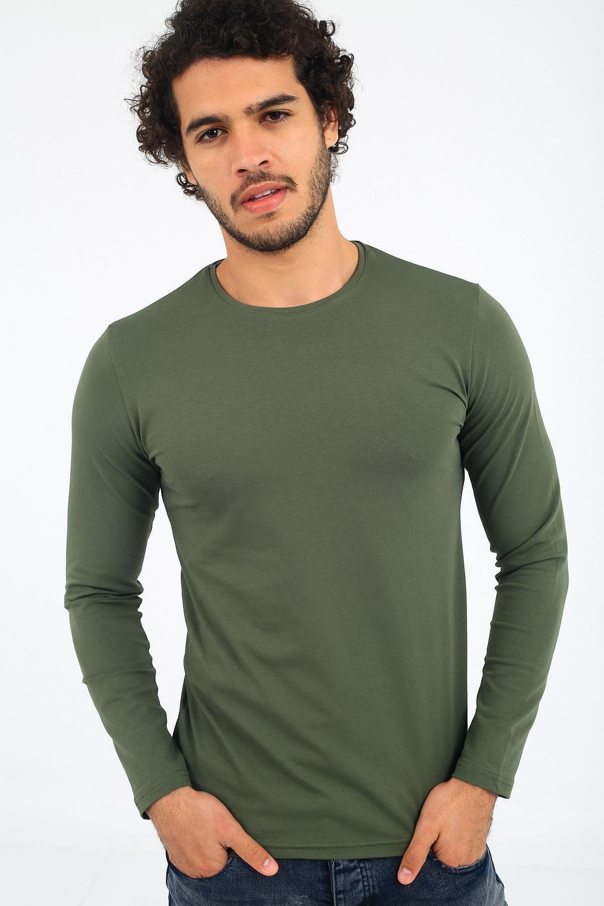 Oksit Mys Lion 4013 Slim Fit Likralı Uzunkol Basic Sweat 2