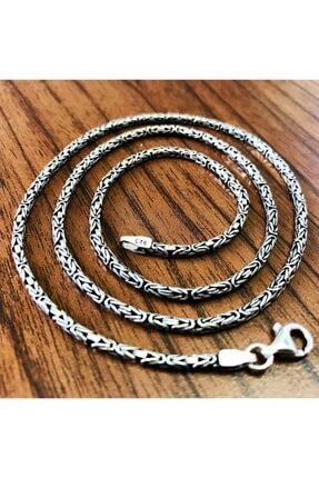 Takı Dükkanı Erkek Gümüş Kral Kolye Zincir 55cm 2mm 16gr Msn18-2