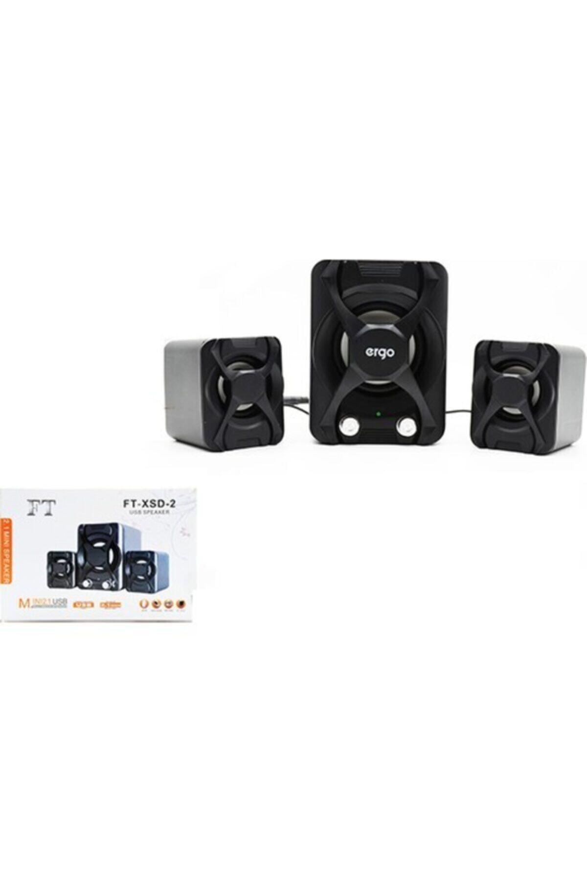 Platoon Pl-4243 Mini 2+1 Usb Multimedia Speaker 2