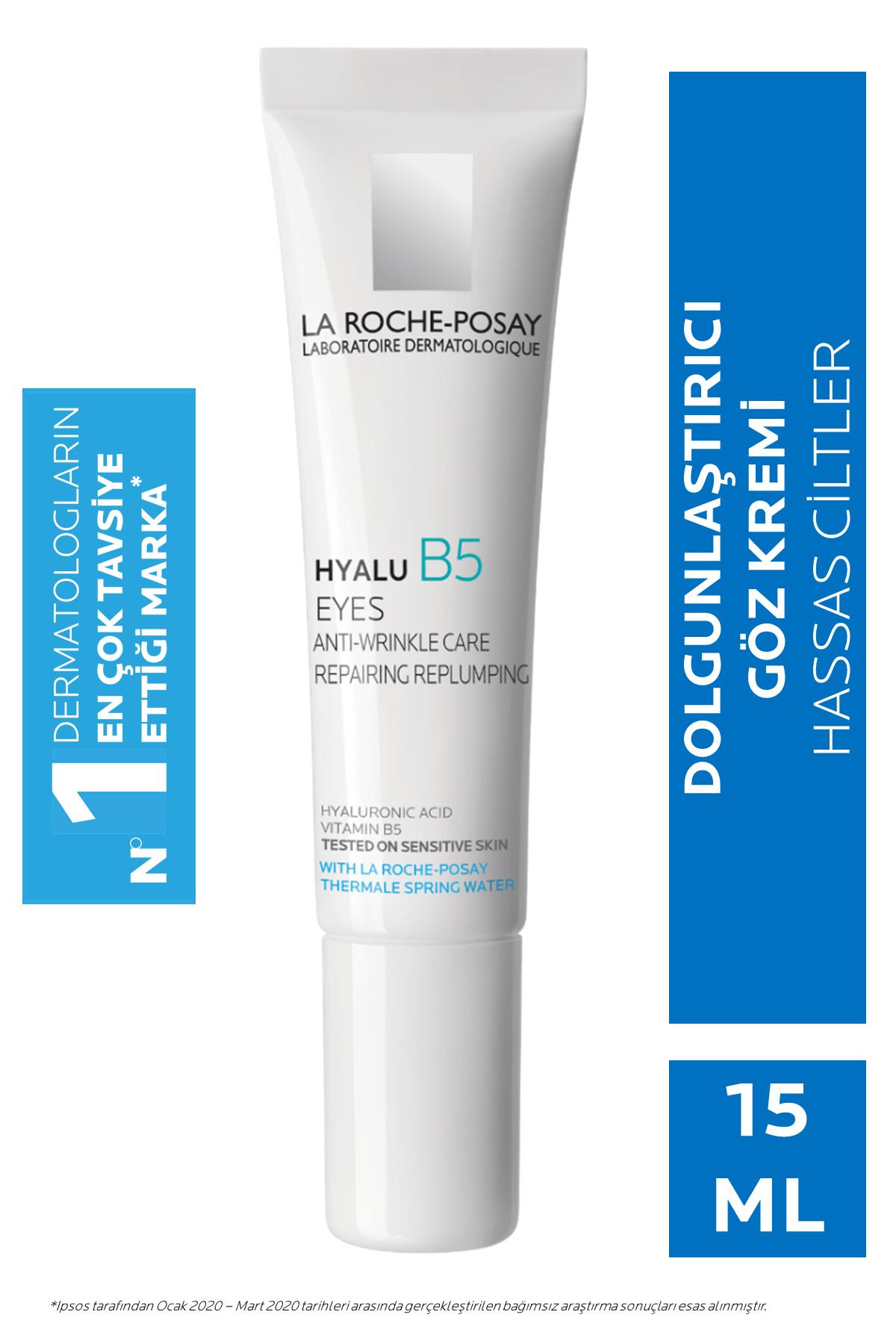 La Roche Posay Hyalu B5 Yeux Dolgunlaştırıcı Göz Kremi Hyalüronik Asit ve Vitamin B5 ile 15 ml 3337875613668