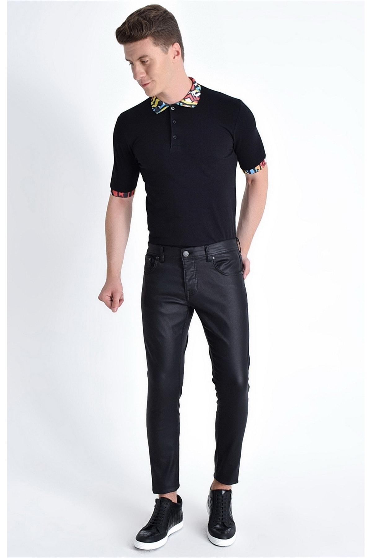 Efor 032 Slim Fit Siyah Jean Pantolon 1